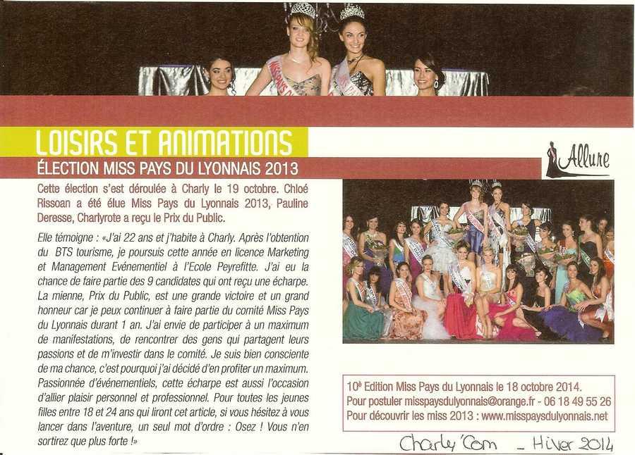 Election Miss Pays du Lyonnais 2013