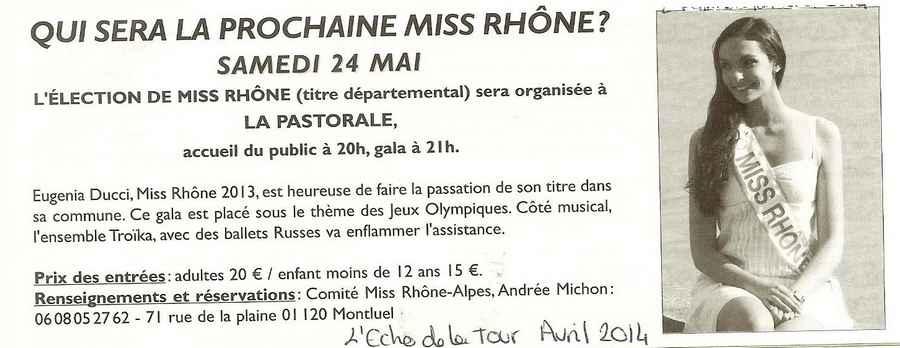 Qui sera la prochaine Miss Rhone