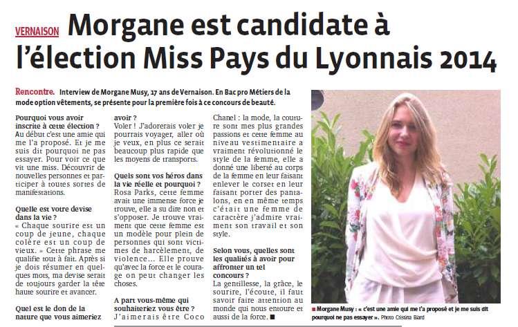 Morgane est canidate à Miss PL 2014