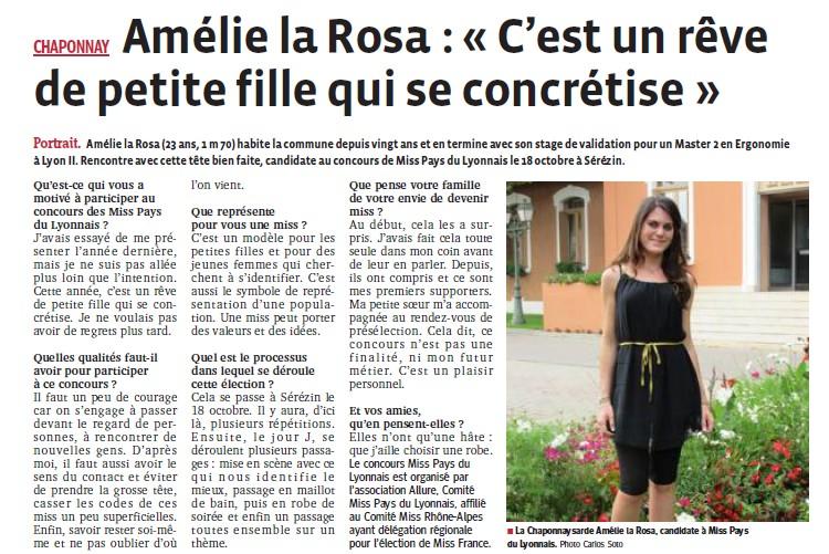 Amélie la Rosa c'est un rêve de petite fille qui se concrétise