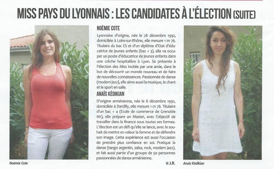 Miss Pays du Lyonnais les candidates à l'élection (suite)