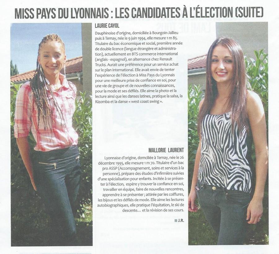 Miss PL les candidates à l'élection (suite)