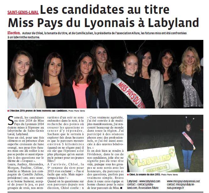 Les candidates au titre Miss PL à Labyland