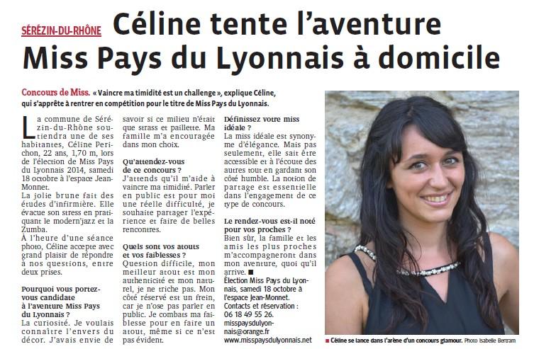 Céline tente l'aventure Miss PL à domicile