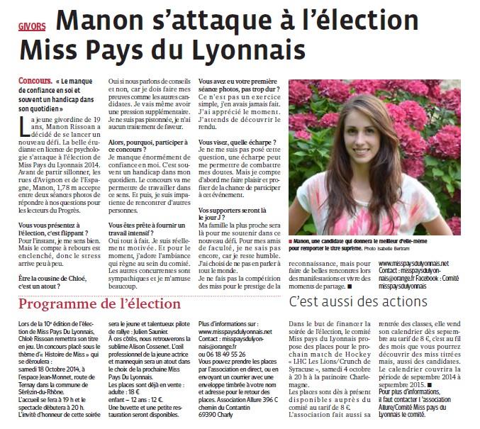 Manon s'attaque à l'élection Miss PL