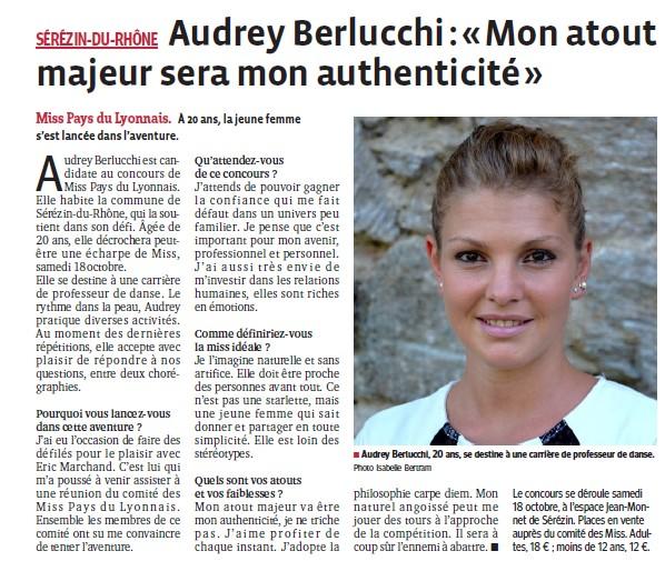 Audrey mon atout majeur sera mon authenticite