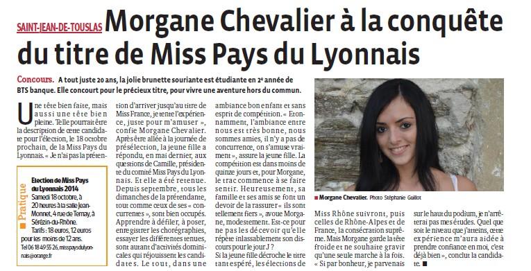 Morgane Chevalier à la conquête du titre de Miss PL