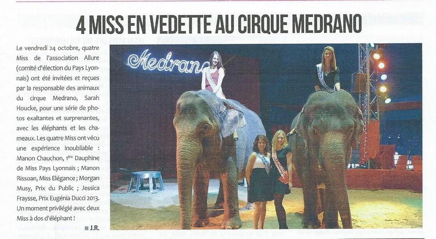 4 miss en vedette au cirque médrano