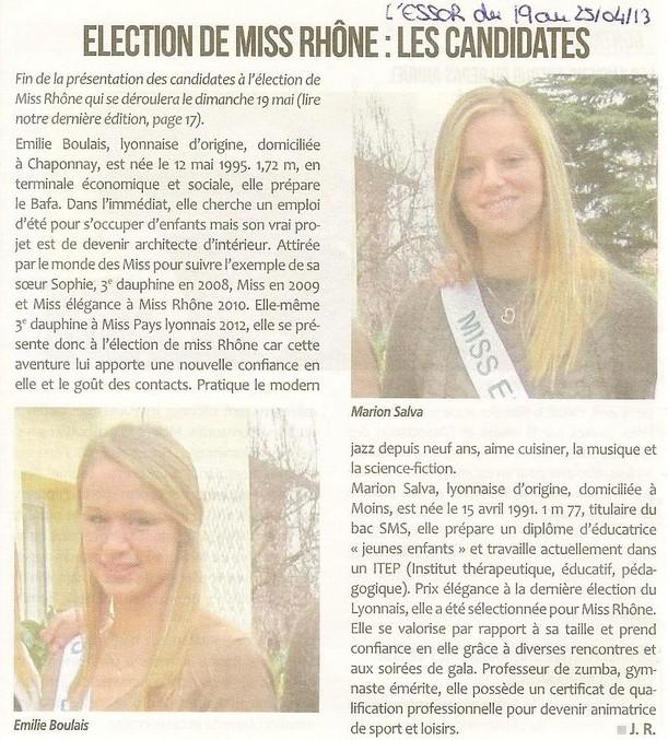 Election de Miss Rhône Les candidates (2) site