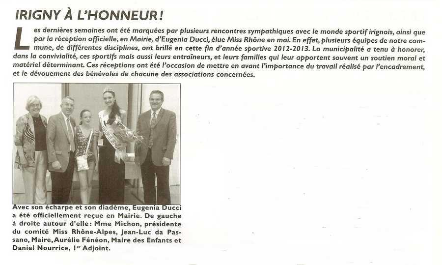 Irigny à l'honneur Site