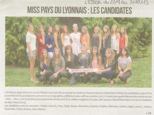 Miss Pays du Lyonnais les candidates Site