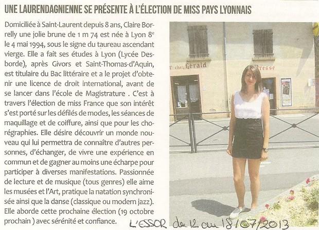 Une laurendagnienne se presente a l election de Miss PL Site