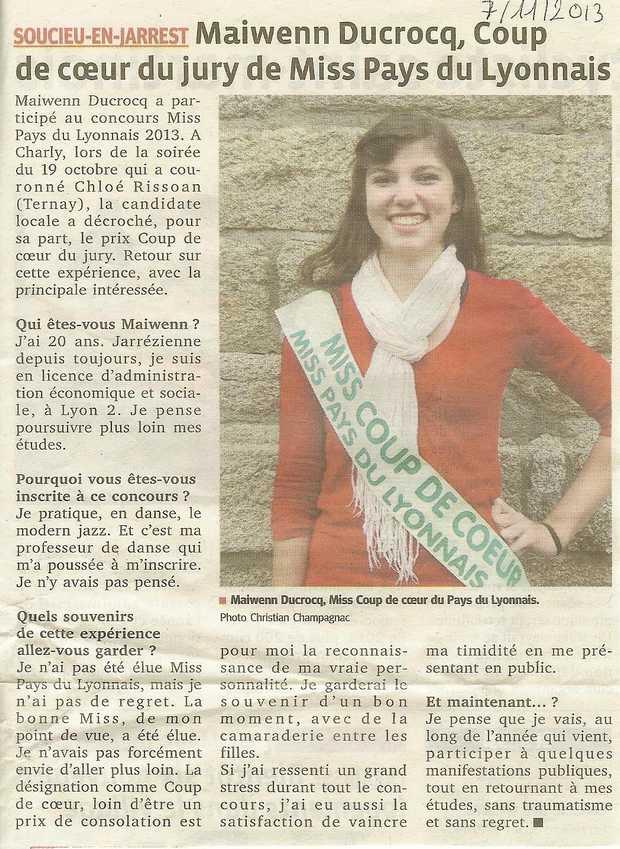 Maiwenn Coup de coeur du jury de Miss pl