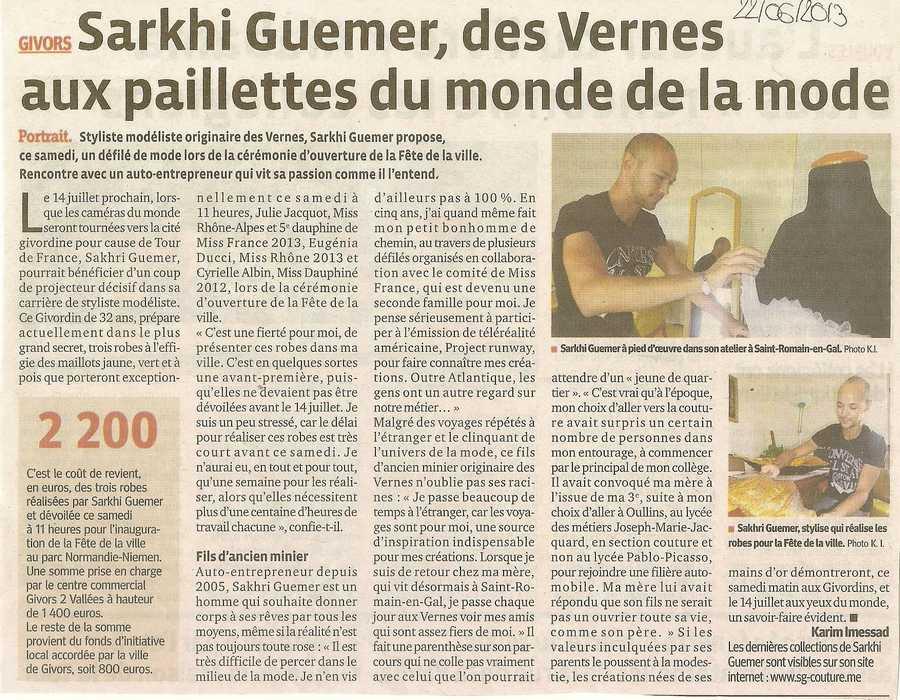 Sarkhi Guemer des Vernes aux paillettes du monde de la mode