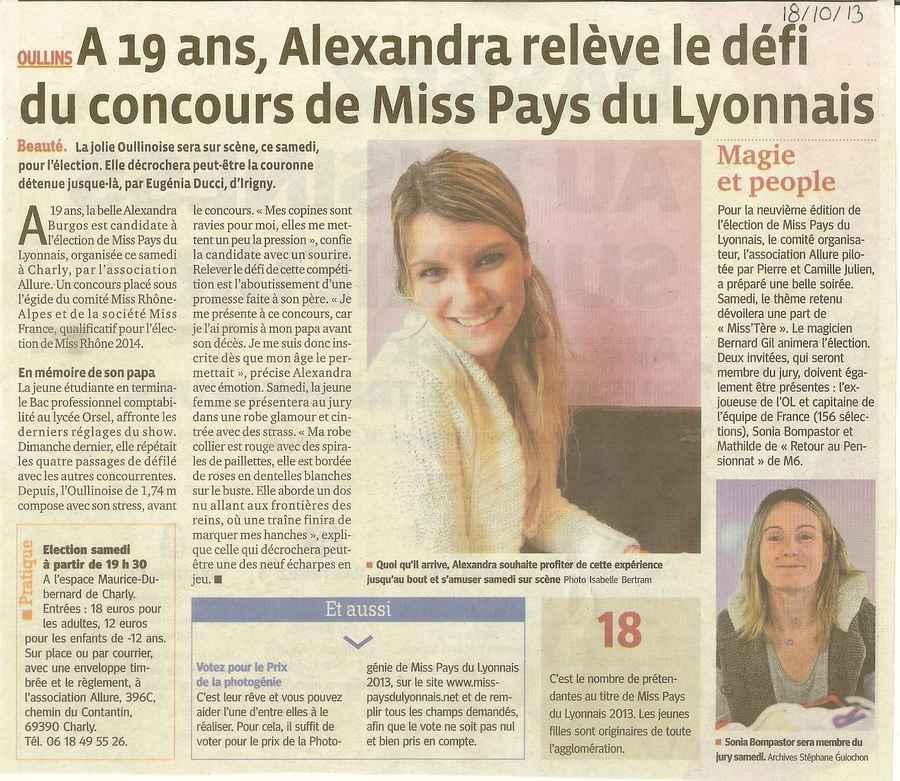 A 19 ans Alexandra relève le défi du concours de Miss PL